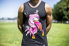 High On Life Flamingo Tank Top Black