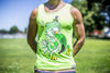 High On Life Flamingo Tank Top Green