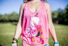 High On Life Tank Top Pink Girls Loose Fit Flamingo