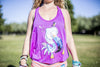 High On Life Tank Top Purple Girls Loose Fit Flamingo