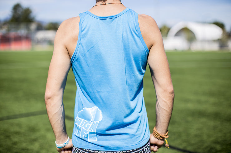 High On Life Giraffe Tank Top Blue