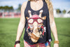 High On Life Tank Top Black Girls Loose Fit Giraffe