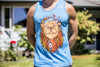 High On Life Lion Tank Top Blue