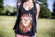 High On Life Tank Top Black Girls Loose Fit Lion