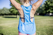 High On Life Tank Top Blue Girls Loose Fit Lion