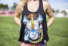 High On Life Tank Top Black Girls Loose Fit Rhino