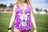 High On Life Tank Top Purple Girls Loose Fit Rhino