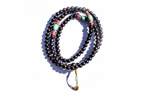 High On Life Mala Beads Brown & Blue
