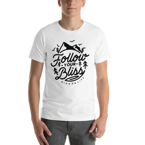 Follow Your Bliss Men's White T
