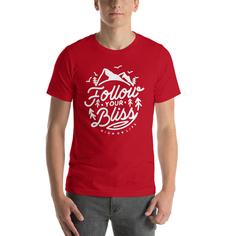 Follow Your Bliss Men's Red T