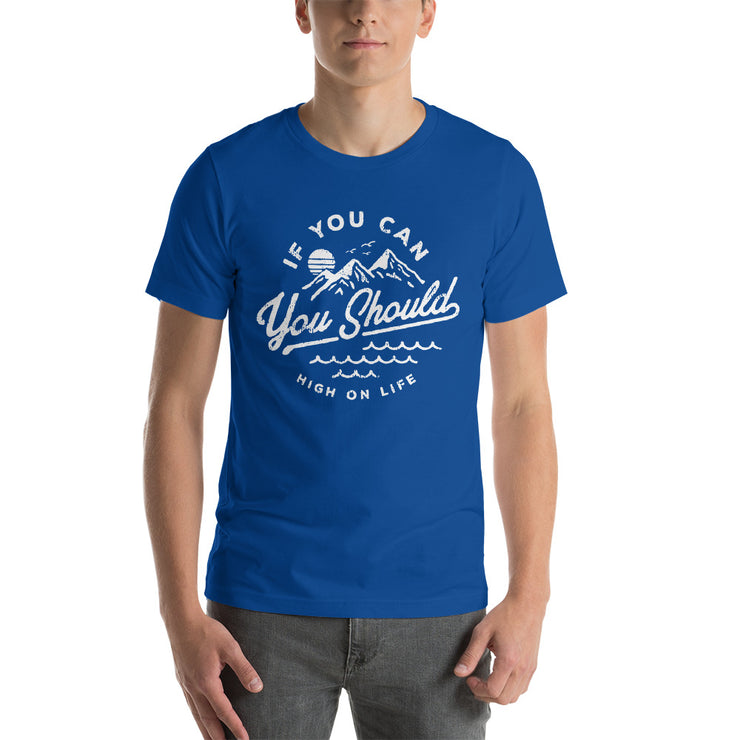 You Should! Men's Blue T