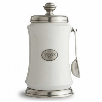 Arte Italica Festivo Coffee Canister with Spoon