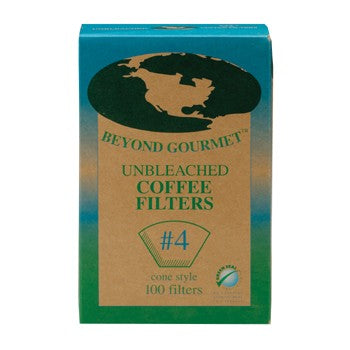 Beyond Gourmet #4 Unbleached Coffee Filters