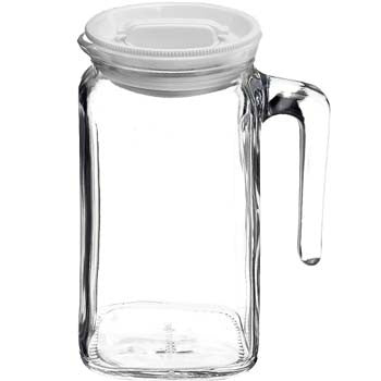 Bormioli Rocco Frigoverre Jug with Lid, 39 Ounces