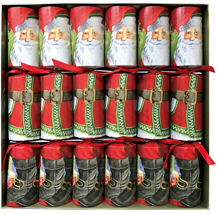 Caspari Santa Claus Lane Celebration Christmas Crackers
