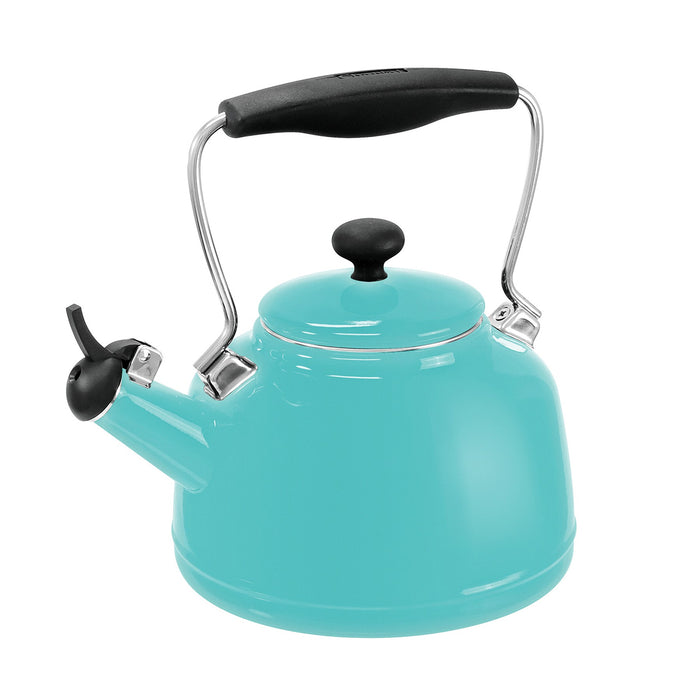 Chantal Enamel-On-Steel 1.7 Quart Vintage Tea Kettle in Aqua