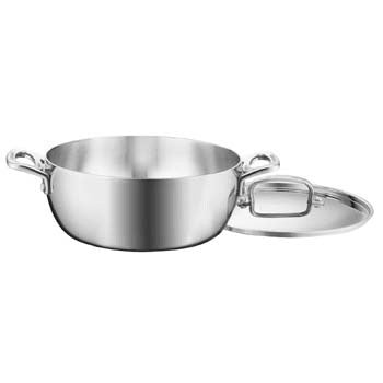 Cuisinart French Classic Tri-Ply Stainless 4.5 Quart Dutch Oven with Lid