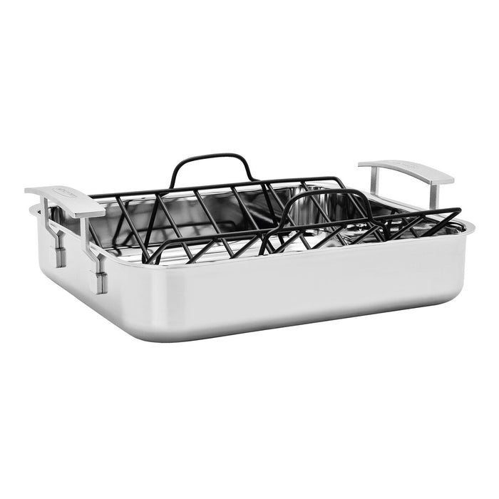"Demeyere Industry 5-Ply 15.7 X 13.3"" Stainless Steel Roasting Pan"