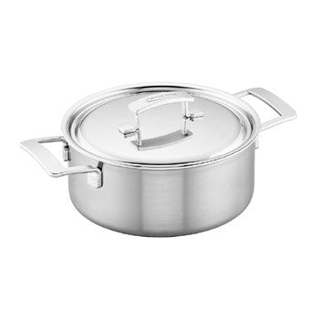 Demeyere Industry 5-Ply 5.5-qt Stainless Steel Dutch Oven