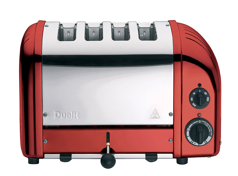 Dualit 4 Slice NewGen Classic Toaster in Candy Apple Red