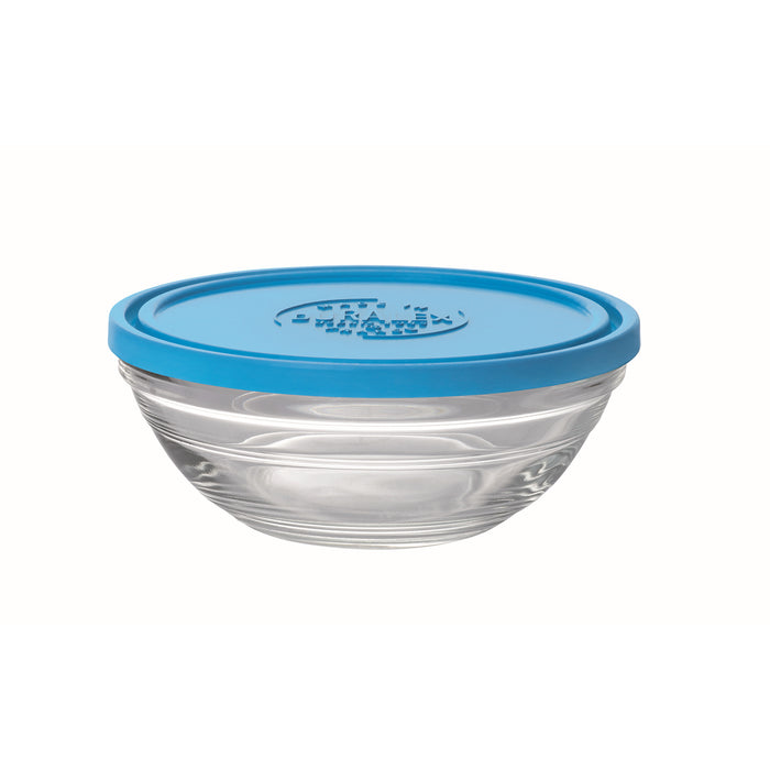 Duralex  Lys Round Bowl with Lid ,  0.5 quart