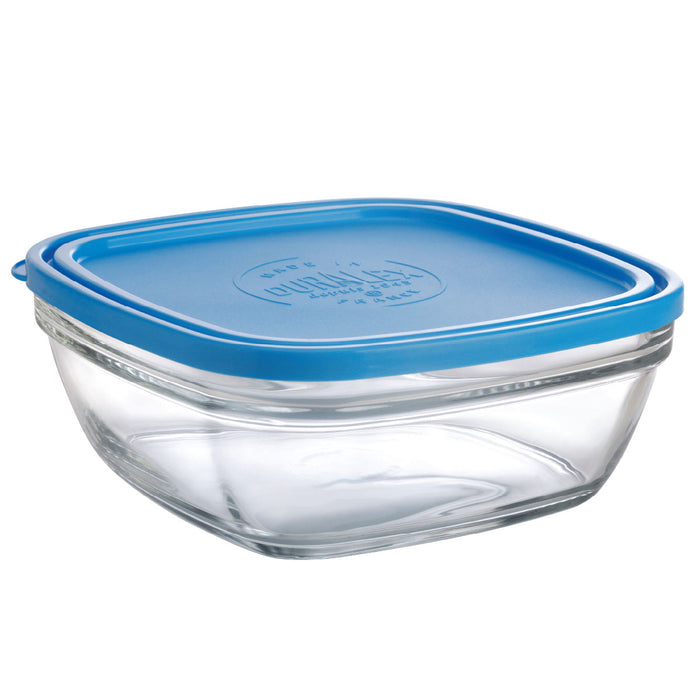 Duralex Lys Square Bowl with Lid 68 oz