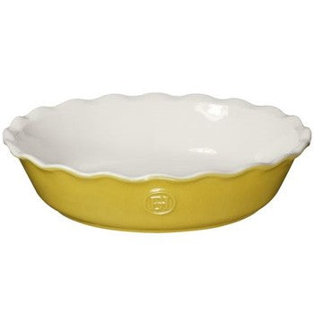 "Emile Henry Modern Classics 9"" Pie Dish in Yellow"