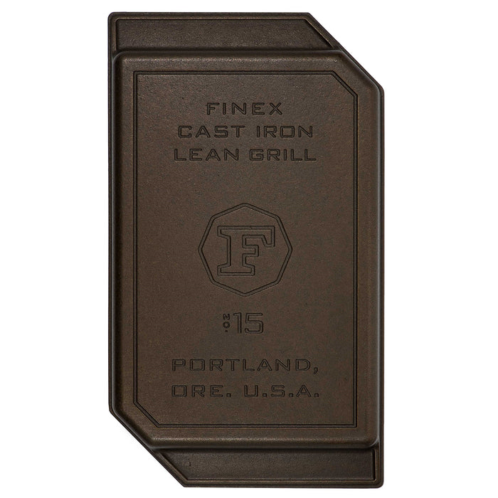 "Finex 15"" Cast Iron Lean Grill Pan"