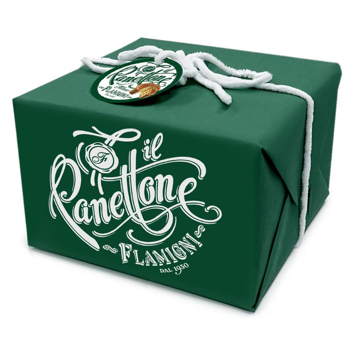 Flamigni Panettone with Fig and Chocolate in Green Box