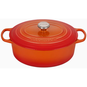Le Creuset Enameled Cast Iron Signature Flame 6 3/4 Quart Oval French Oven