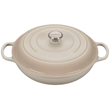 Le Creuset Enameled Cast Iron Signature Meringue 5 Quart Braiser