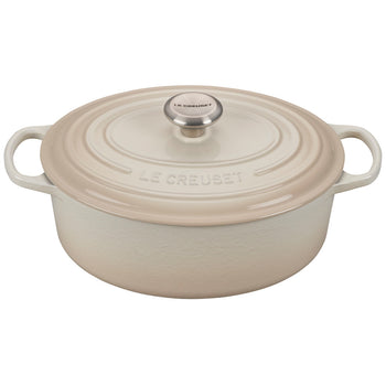 Le Creuset Enameled Cast Iron Signature Meringue 5 Quart Oval French Oven
