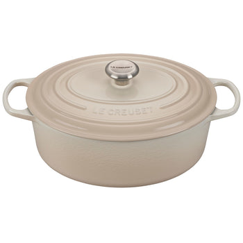 Le Creuset Enameled Cast Iron Signature Meringue 6 3/4 Quart Oval French Oven