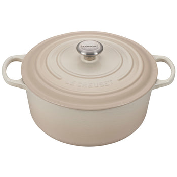 Le Creuset Enameled Cast Iron Signature Meringue 7 1/4 Quart Round French Oven