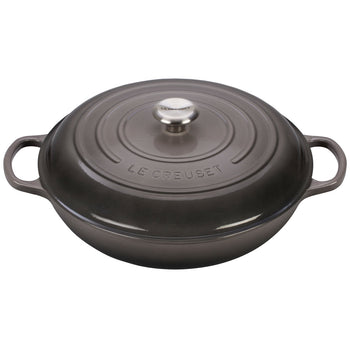 Le Creuset Enameled Cast Iron Signature Oyster 5 Quart Braiser
