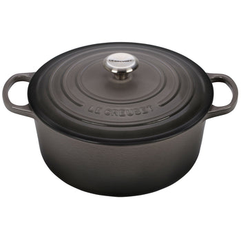 Le Creuset Enameled Cast Iron Signature Oyster 7 1/4 Quart Round French Oven