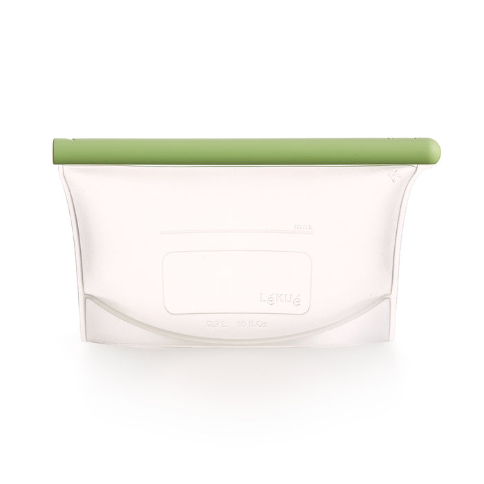 Lekue Reusable Silicone Bag ,  17 oz / 2.15 cups