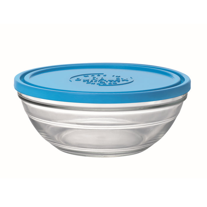Duralex Lys Round Bowl with Lid ,  1.5 quart