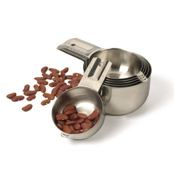 RSVP Endurance 6 Piece Stainless Steel Nesting Measuring Cup Set