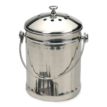 RSVP Endurance One Gallon Stainless Steel Compost Pail