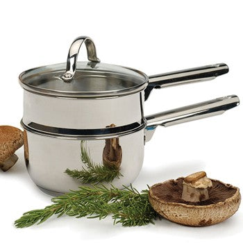 RSVP Endurance Stainless Steel 1 Quart  Mini Double Boiler
