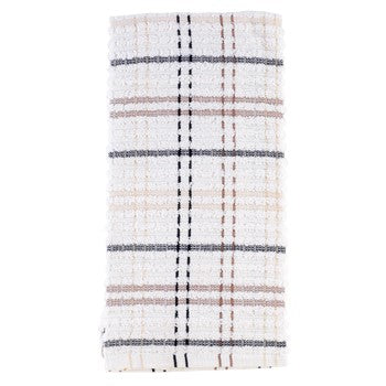 Ritz Royale Checked Kitchen Towel in  Latte