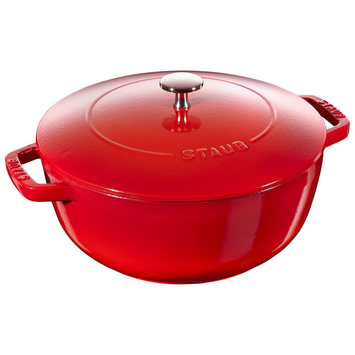 Staub Enameled Cast Iron 3.75 Qt  Essential French Oven in Cherry Red