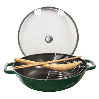 Staub Enameled Cast Iron Perfect Pan in Basil