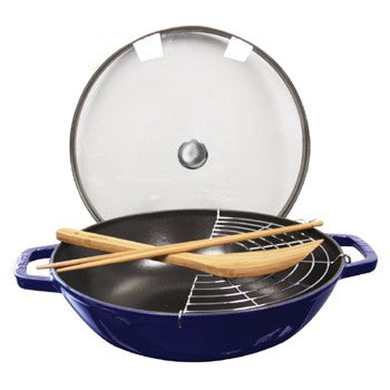 Staub Enameled Cast Iron Perfect Pan in Dark Blue