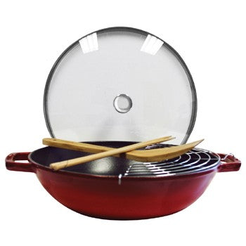 Staub Enameled Cast Iron Perfect Pan in  Grenadine