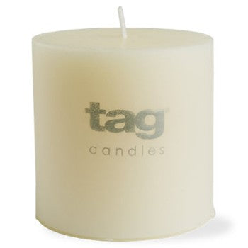 Tag Ivory Chapel 3X3 Pillar Candle