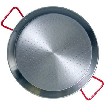 "Traditional Polished Steel 10"" Paella Pan"