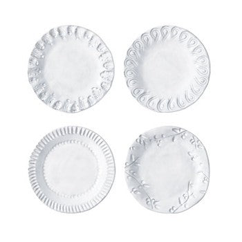 Vietri Incanto Assorted Set of Four Canape Plate