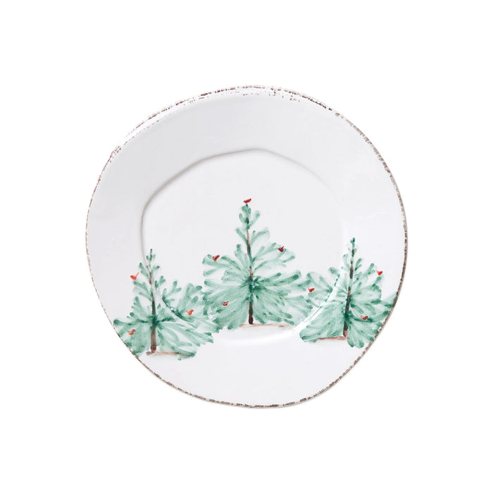 Vietri Lastra Holiday Salad Plate